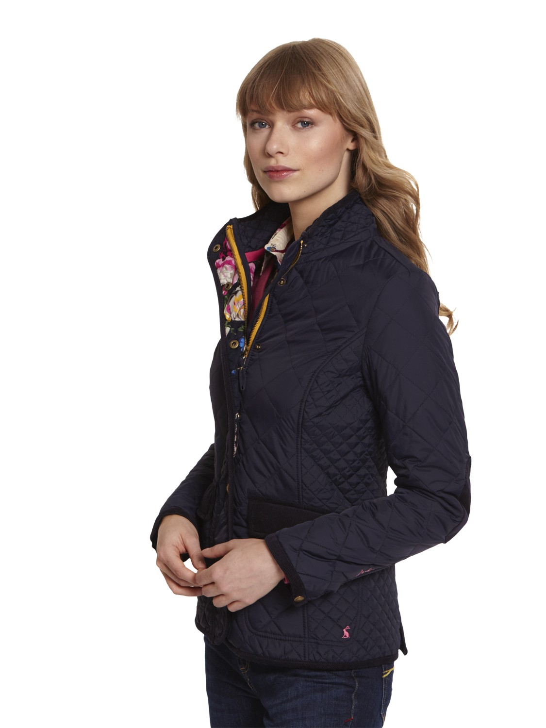 Joules Moredale Quilted Jacket In Blue Lyst