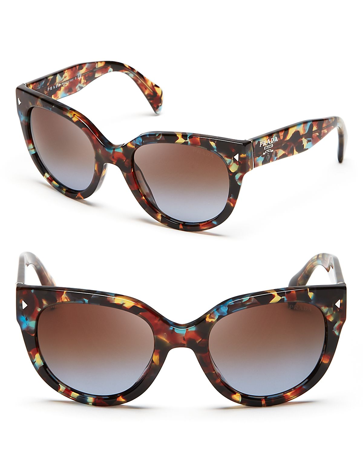 2385f0300b ... get lyst prada cat eye sunglasses in blue 47edd 6952a