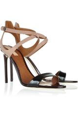 Reed Krakoff Colorblock Rubberized and Patentleather Sandals - Lyst
