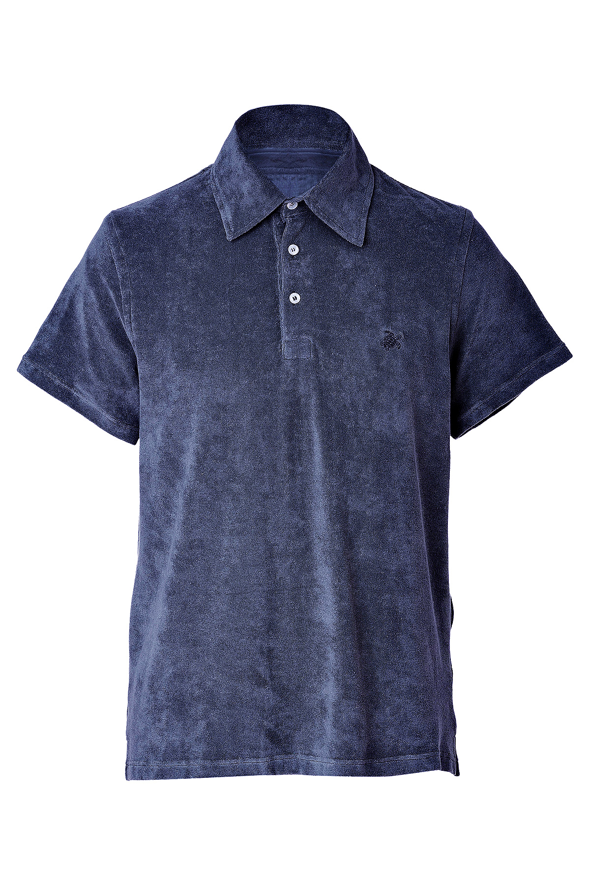 lyst vilebrequin navy terry cloth polo shirt in blue for men
