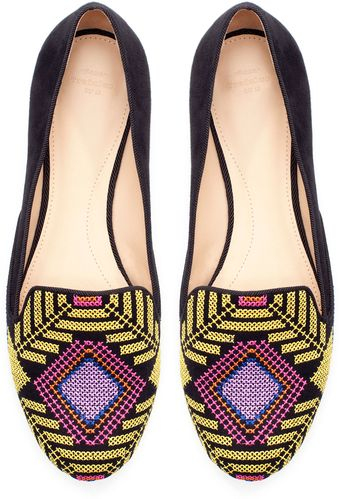 Zara Multicolored Slipper - Lyst