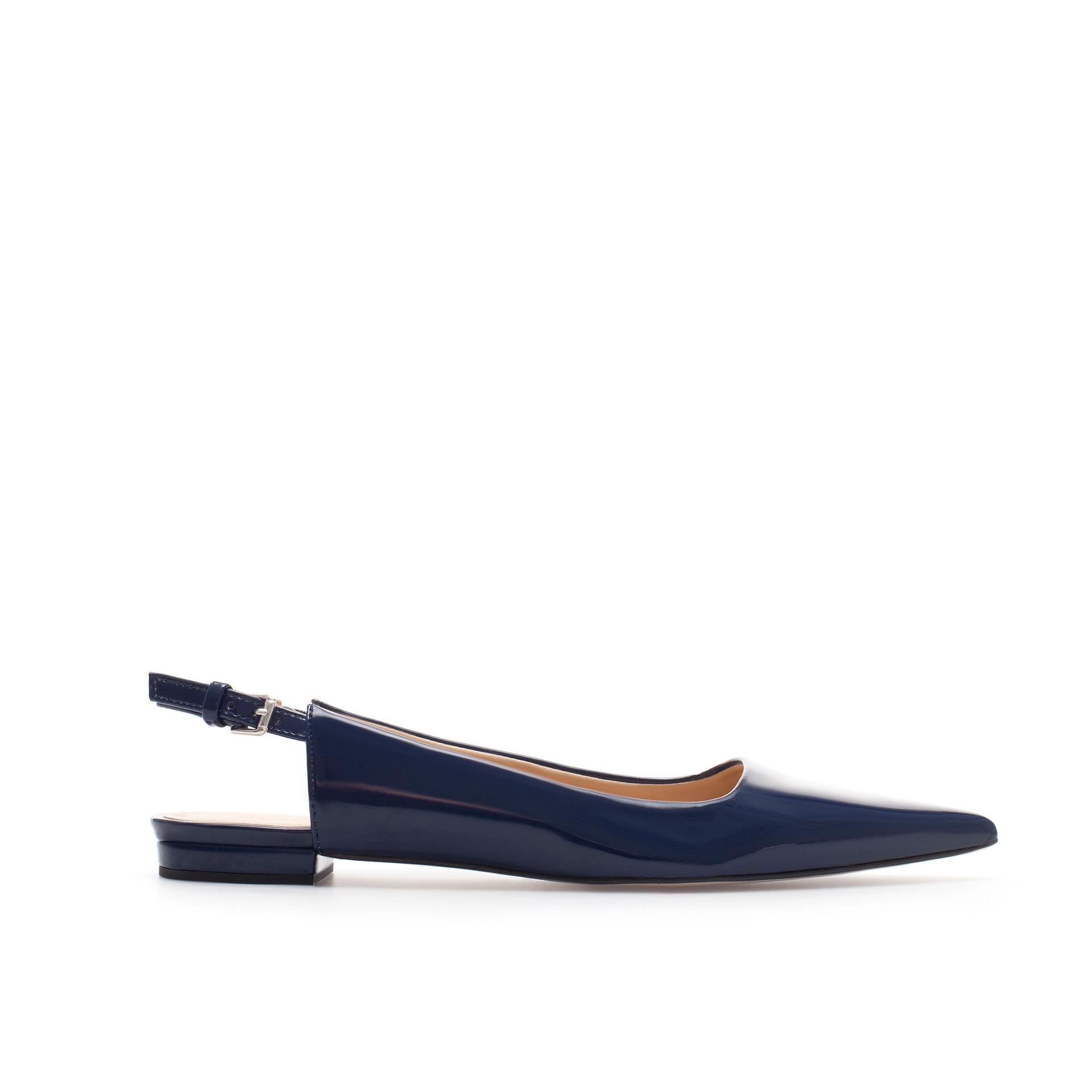 Flat Pointed Toe Slingback Shoes