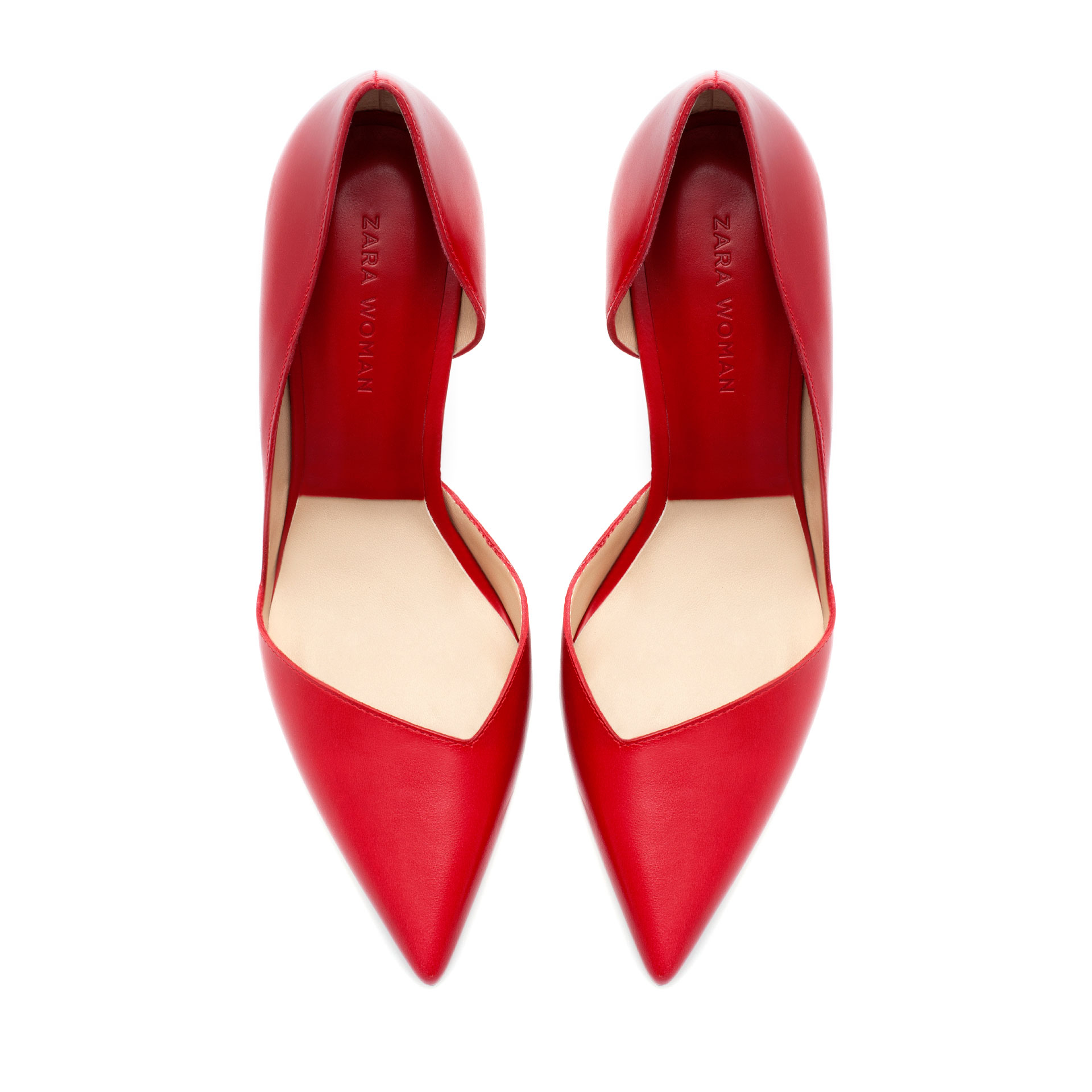 4bdfdf4964f High Heel Shoes  Zara Red High Heel Shoes