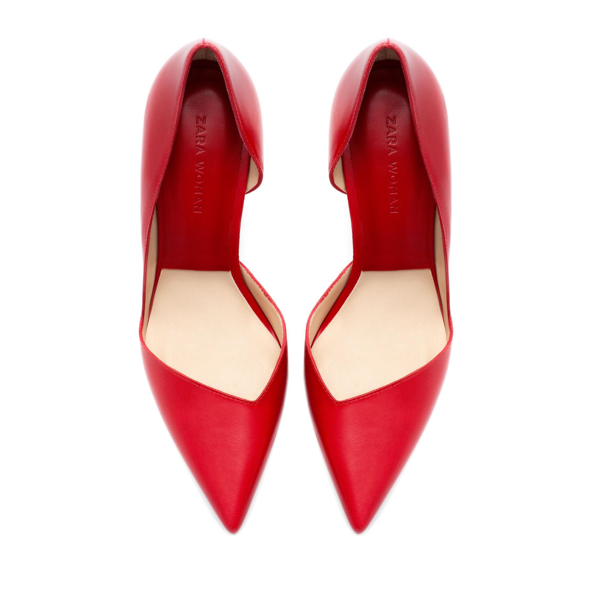 4bdfdf4964f High Heel Shoes  Zara Red High Heel Shoes