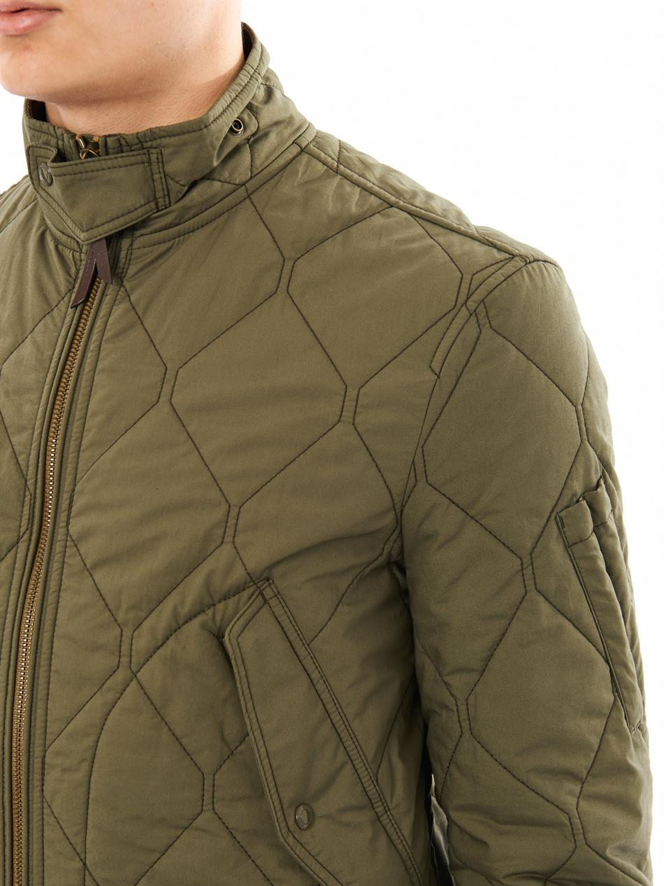 c44eefbb5b5 Lyst - Burberry Brit Quilted Bomber Jacket in Green for Men