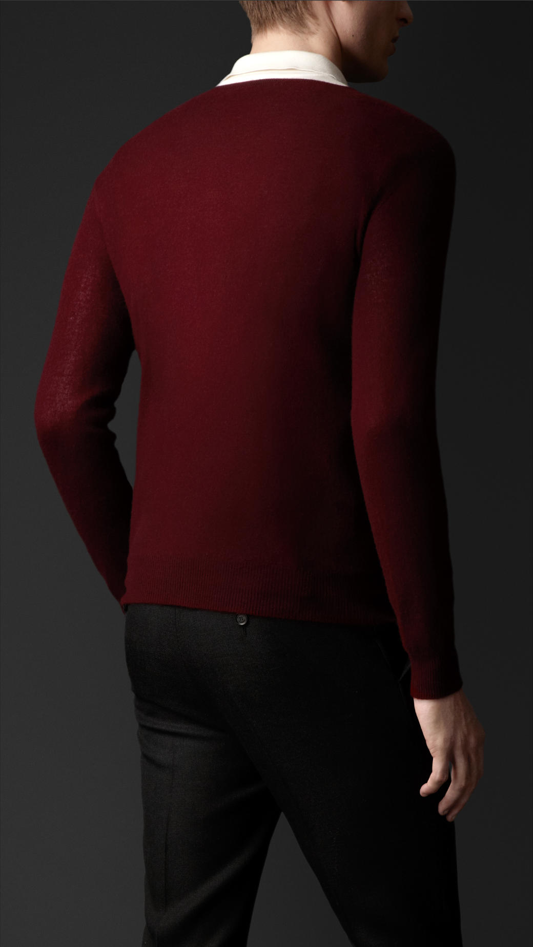 Burberry Lightweight Cashmere Sweater in Red for Men | Lyst
