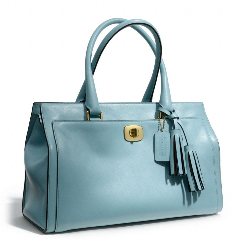 be4fe2731e ... discount coach legacy chelsea carryall in leather in blue lyst nude bags  33869 e0b68