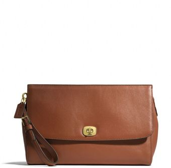 Coach Legacy Flap Clutch in Leather - Lyst