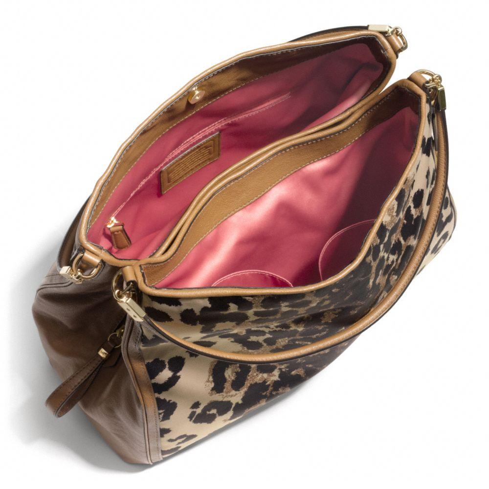 Madison Phoebe Shoulder Bag In Ocelot Print Fabric 90