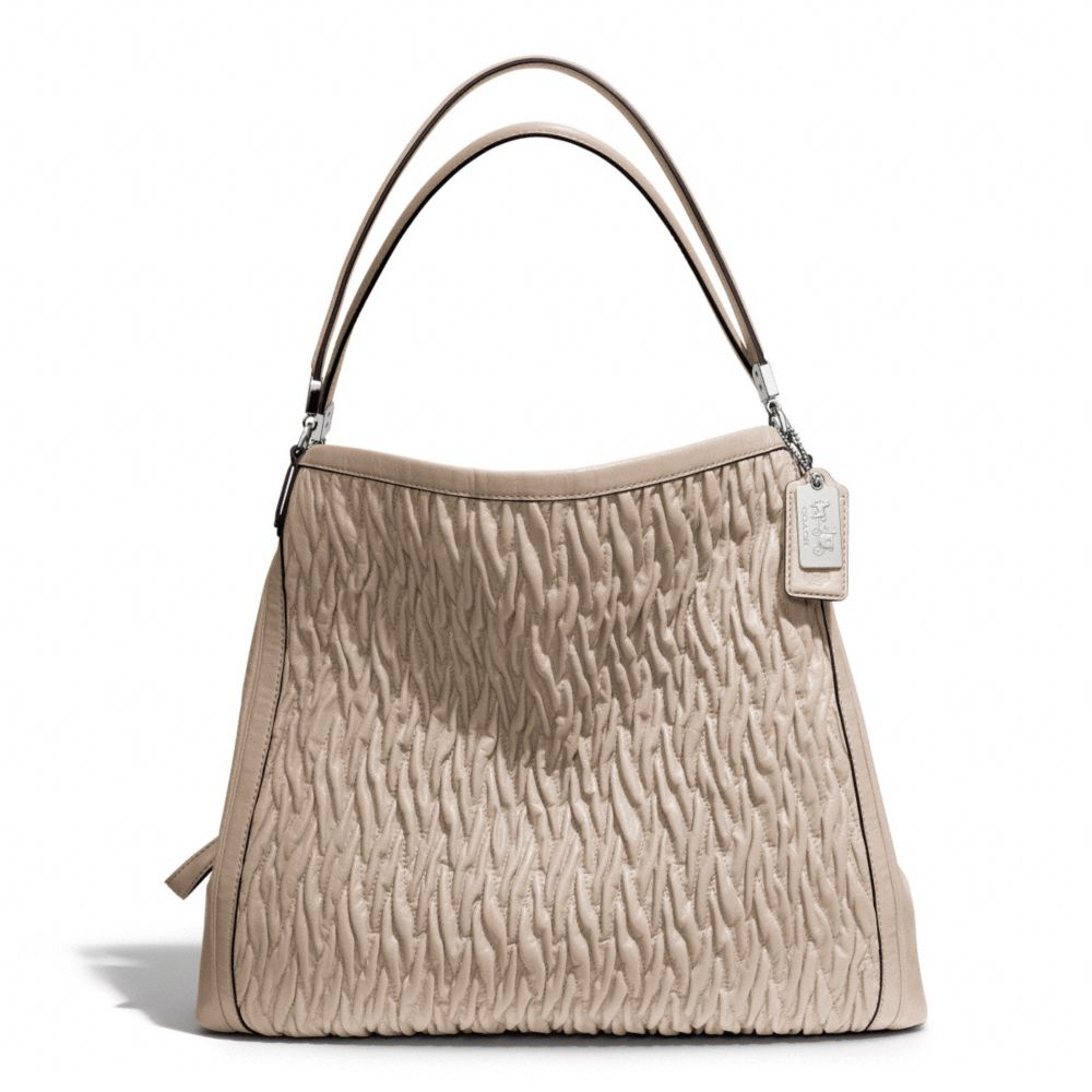 04b165f65a ... france lyst coach madison phoebe shoulder bag in gathered twist leather  2e7f8 171bb