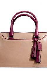 Coach Legacy Haley Satchel in Two Tone Leather - Lyst