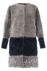 Fendi Reversible Shearling Coat - Lyst