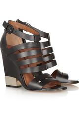 Givenchy Cutout Leather Sandals - Lyst