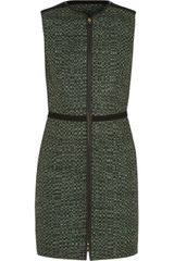M Missoni Leather-trimmed Woven Dress - Lyst