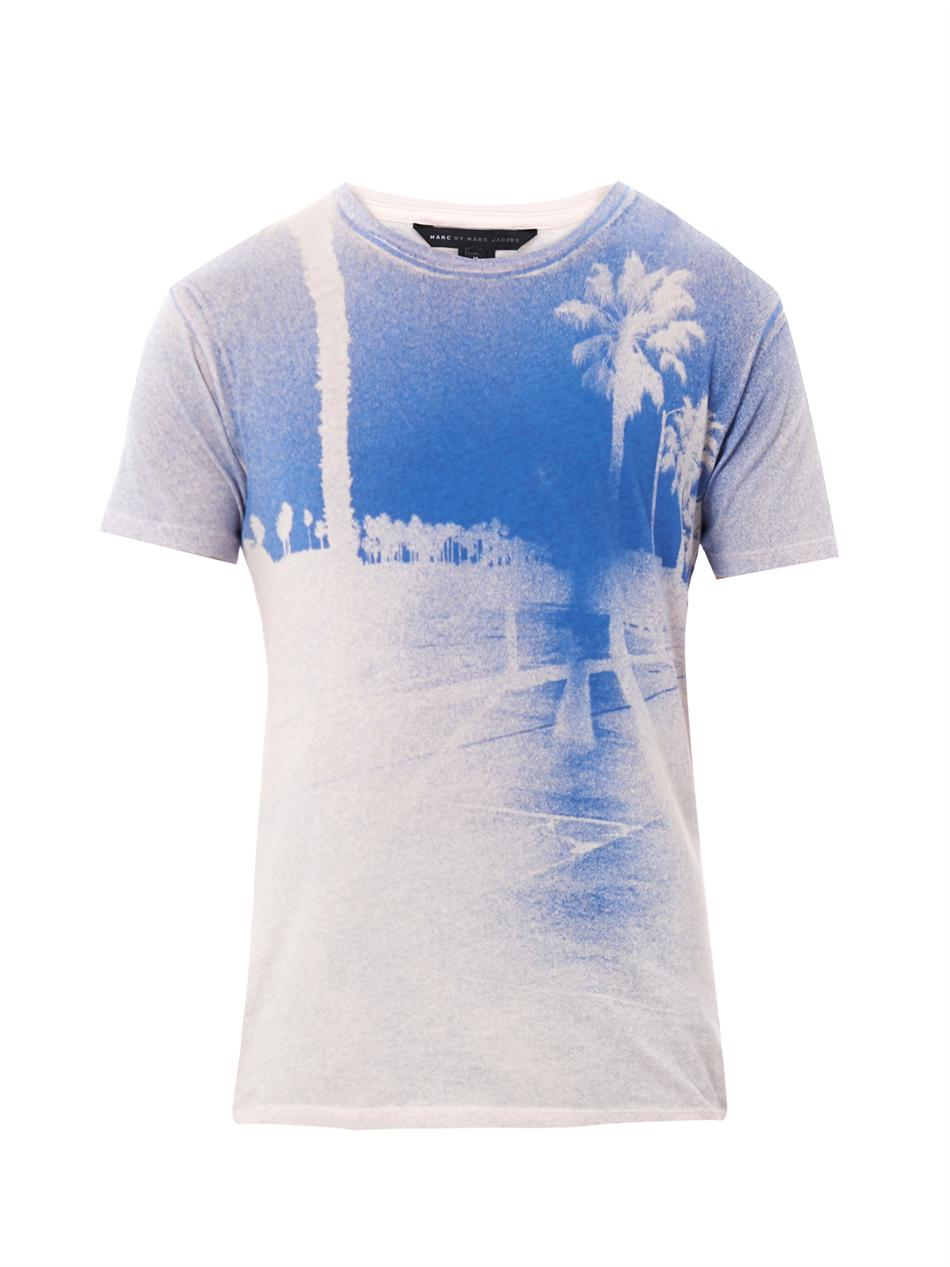 Marc By Marc Jacobs Palm Tree-print T-shirt in Pink for ...