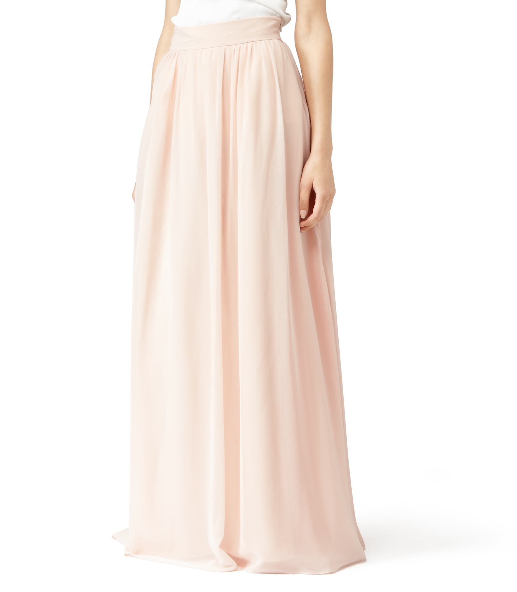 Reiss Mason Maxi Maxi Skirt in Pink | Lyst