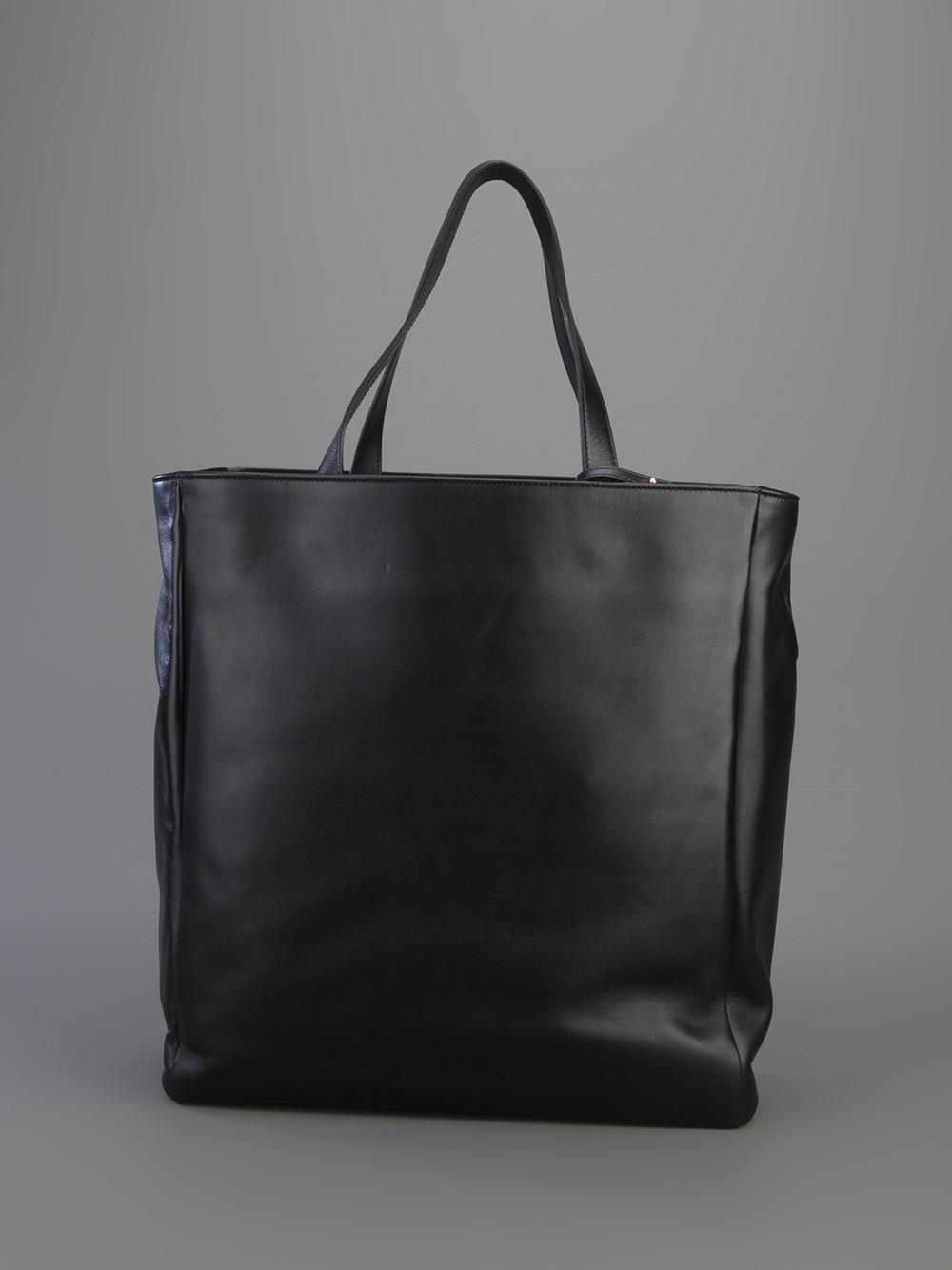 saint laurent classic shopper tote in black lyst. Black Bedroom Furniture Sets. Home Design Ideas
