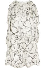 Thakoon Addition Ruffled Printed Silkchiffon Dress - Lyst
