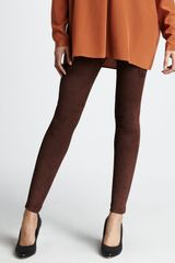 Vince Suede Leggings - Lyst