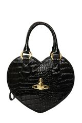 Vivienne Westwood Croco Print Faux Leather Heart Bag - Lyst