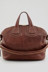 Givenchy Nightingale Zanzi Medium Satchel Bag Light Brown - Lyst
