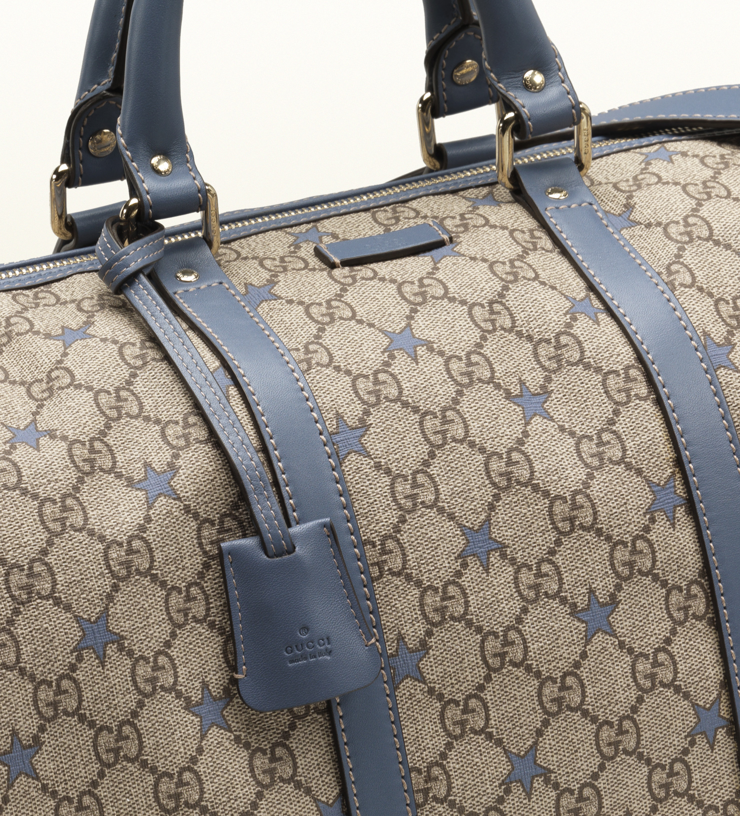 e8bfff66512 Gucci Large Gg Supreme Stars Canvas Carryon Duffel in Blue for Men ...