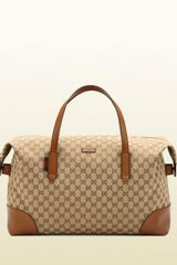 Gucci Original Gg Canvas Carryon Duffel Bag - Lyst