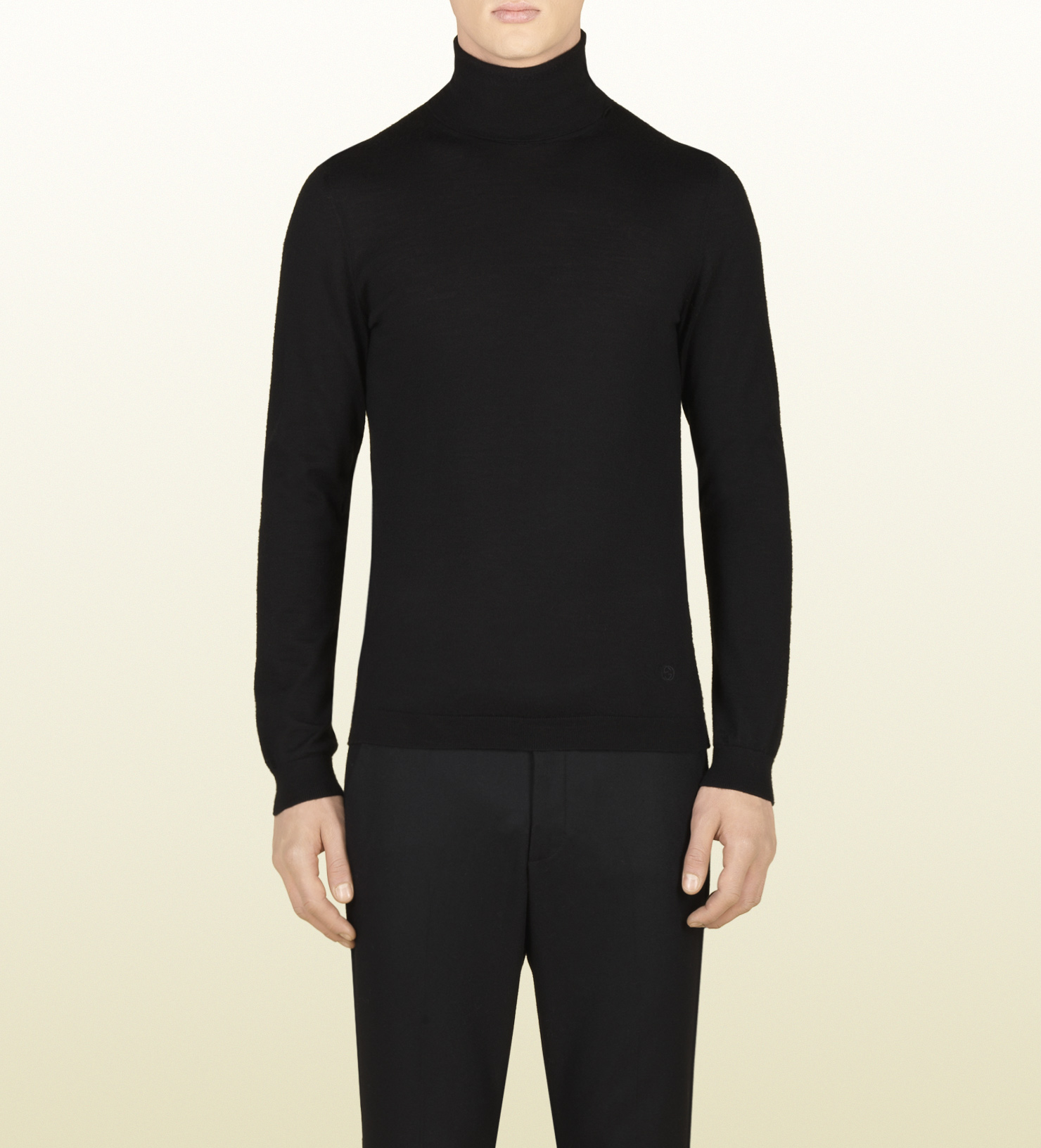 Lyst Gucci Cashmere Turtleneck Sweater In Black For Men