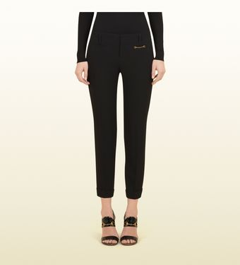 Gucci Black Matte Satin Envers Holiday Pants - Lyst