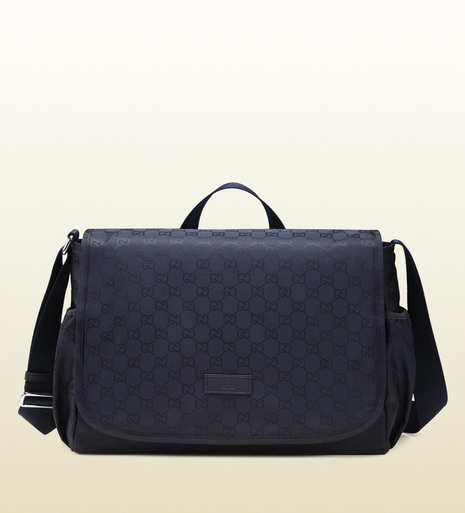 Gucci Blue Nylon Ssima Diaper Bag in Blue for Men