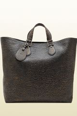 Gucci Helmut Grainy Leather Tote - Lyst