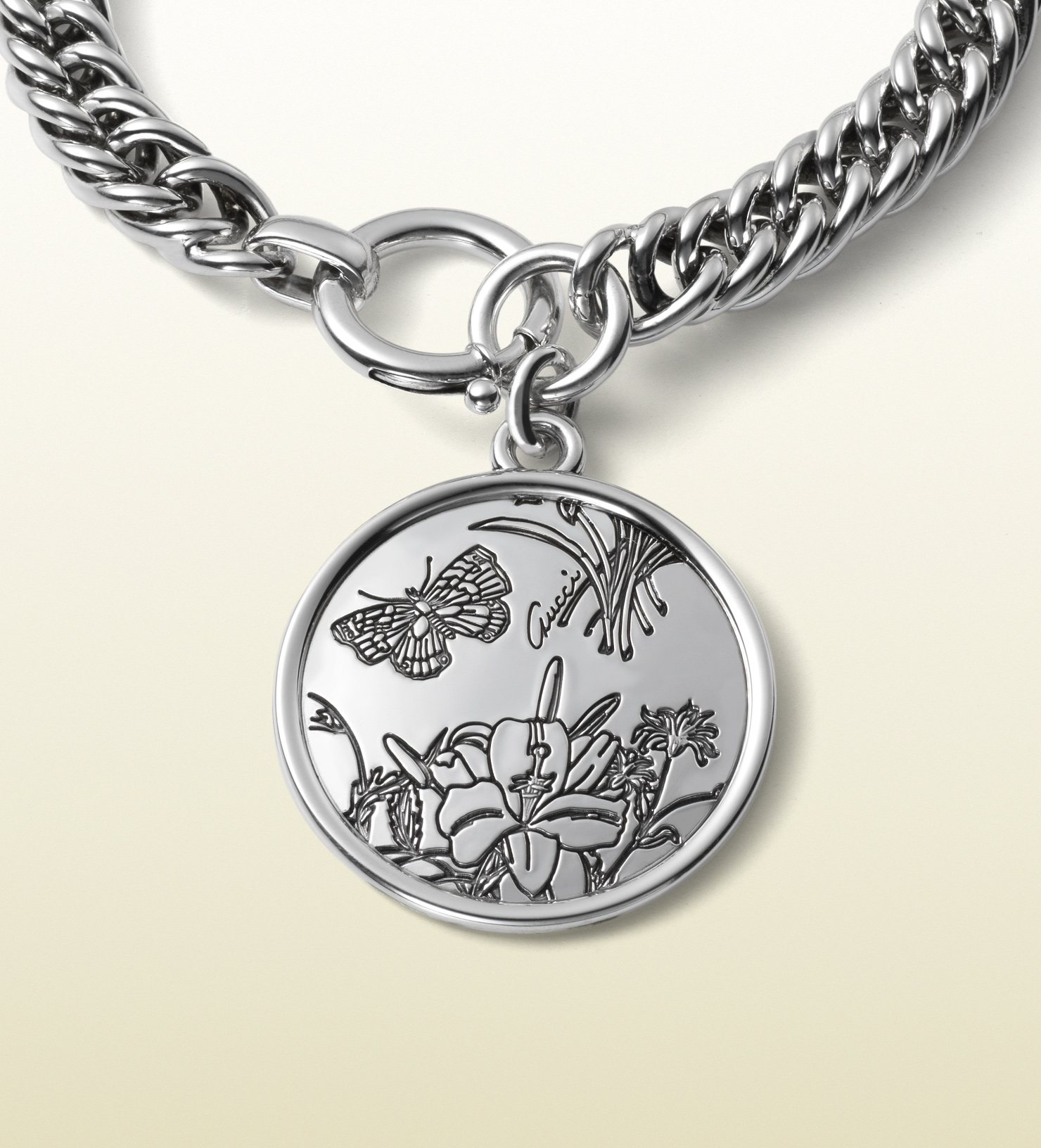 Gucci Flora Bracelet In Sterling Silver In Metallic For