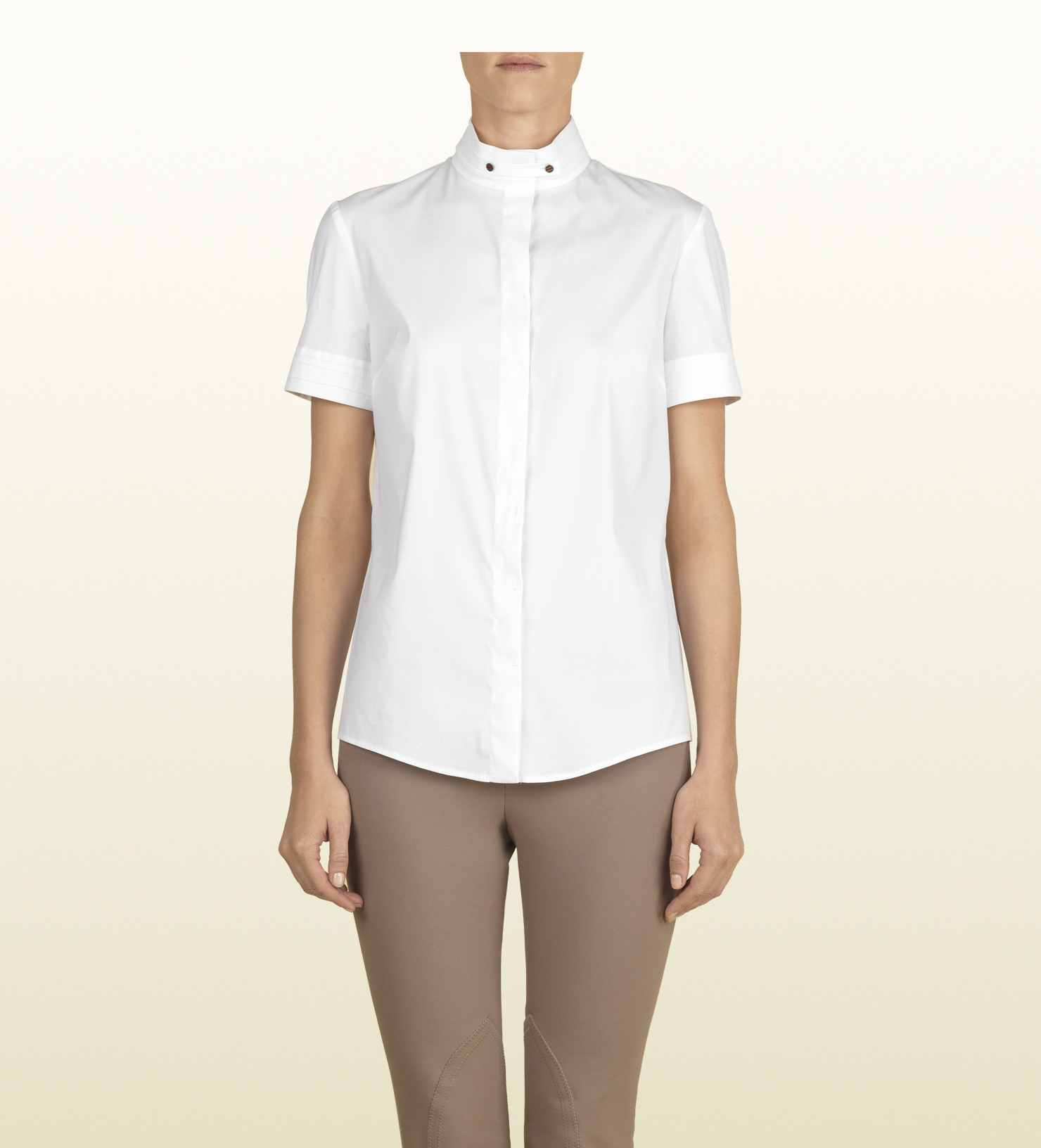 Lyst Gucci White Short Sleeve Shirt From Equestrian