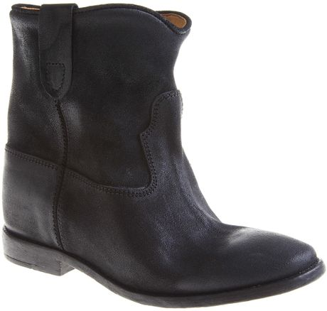 Isabel Marant Cluster Concealed Wedge Boot in Black - Lyst
