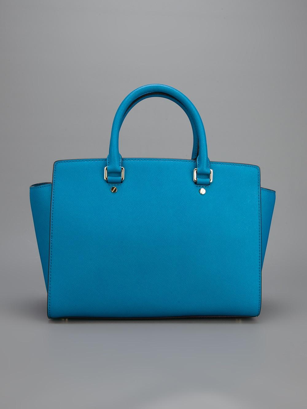 Lyst Michael Michael Kors Selma Handbag In Blue