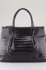 Nancy Gonzalez Executive Doublezip Crocodile Tote Bag Black - Lyst