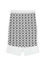 Opening Ceremony Esther Jacquard Skirt in White (Sky/Black) - Lyst