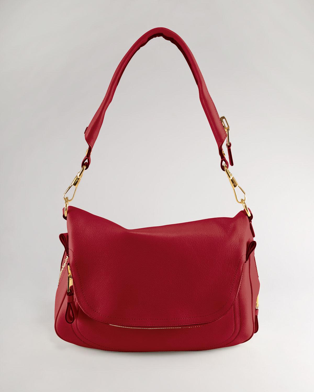 Cool Tom Ford Womens Medium Adjustablestrap Flap Messenger Bag Black In