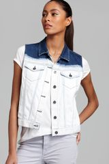 Two By Vince Camuto Acid Dip Dye Vest - Lyst