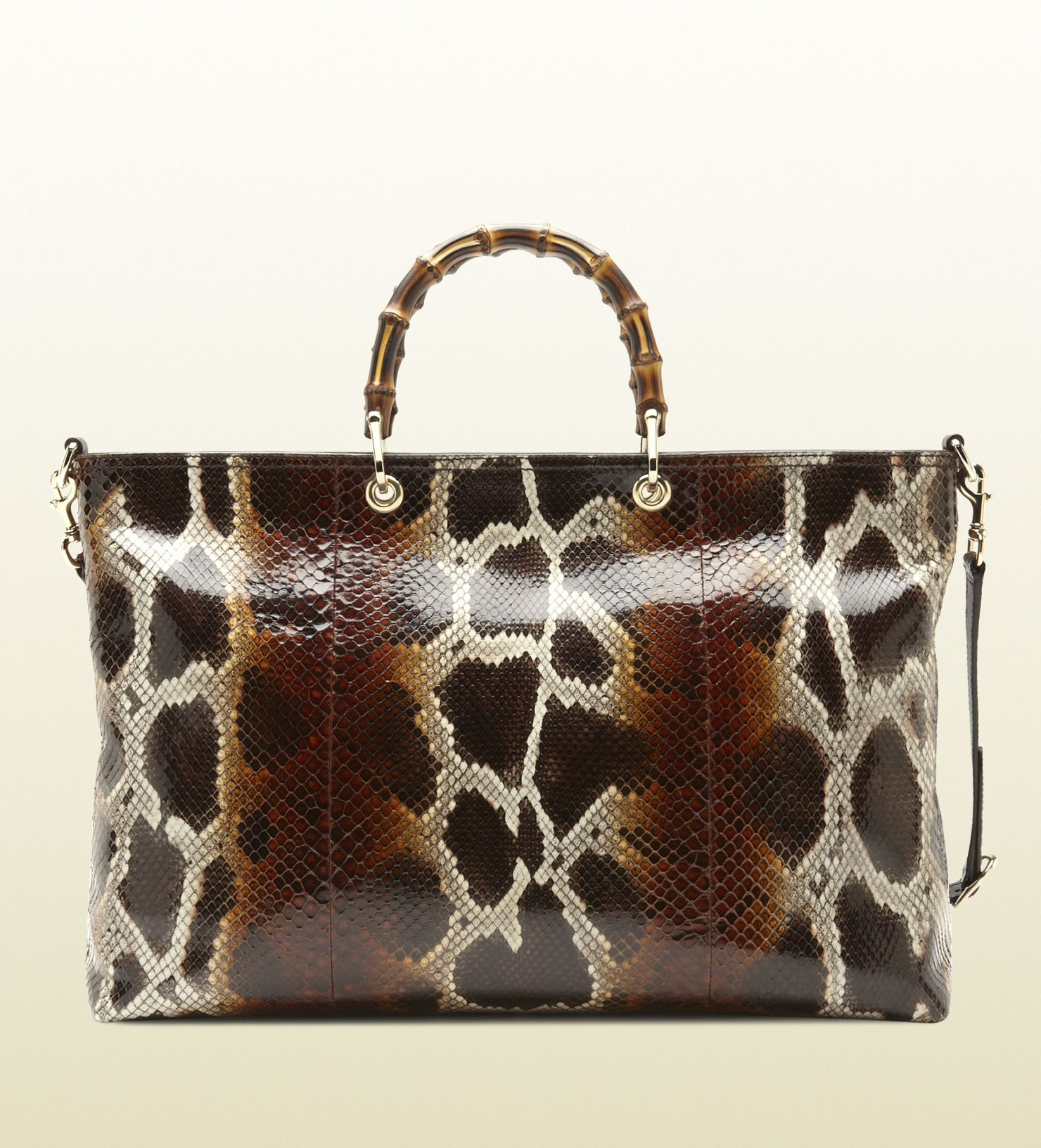 889b3de6460923 Gucci Bamboo Shopper Python Tote - Lyst