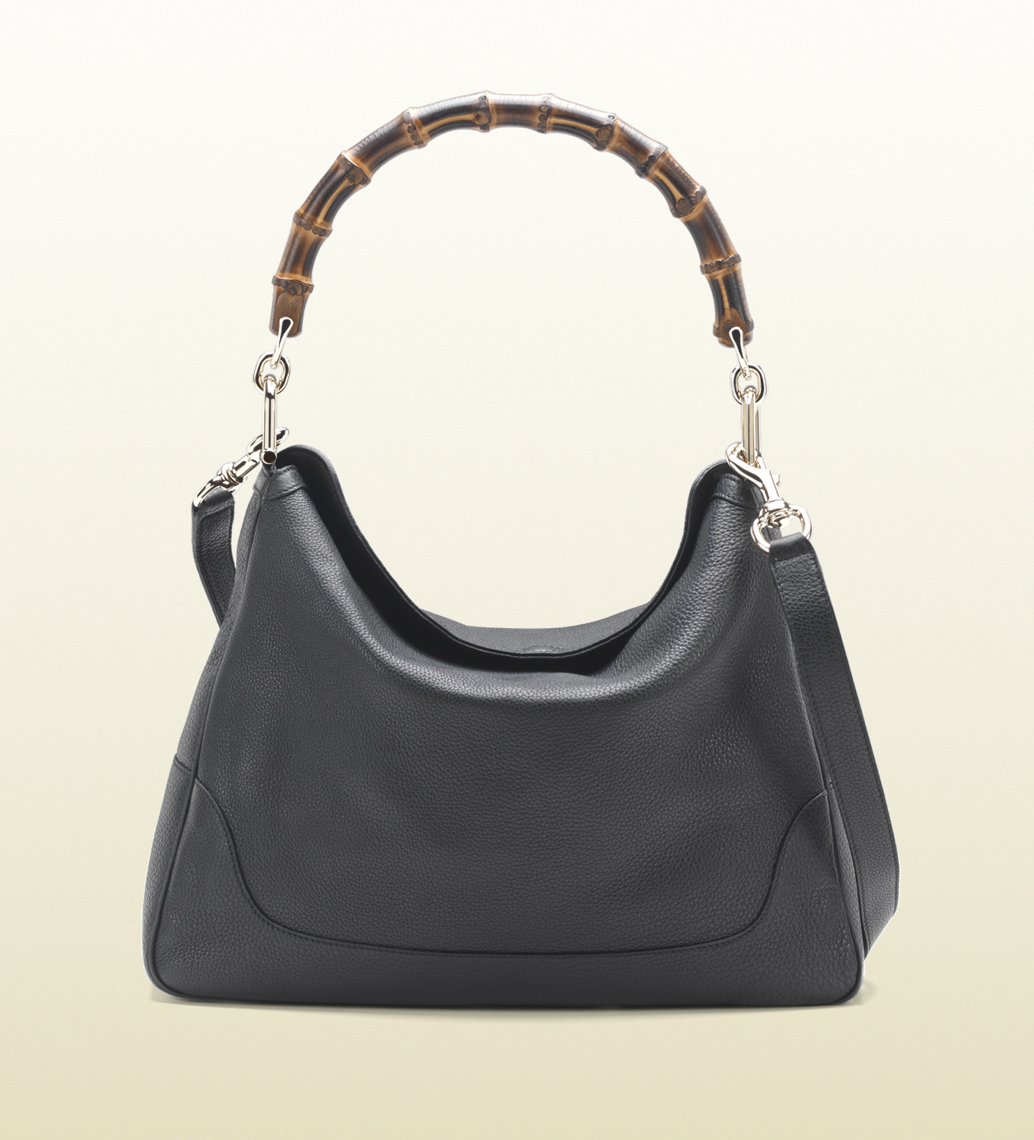 7347a5db5ff7ec Gucci Diana Bamboo Handle Black Leather Shoulder Bag in Gray - Lyst