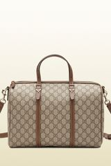 Gucci Gucci Nice Gg Supreme Canvas Boston Bag - Lyst