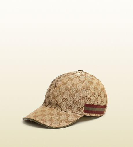 gucci original gg canvas baseball hat in brown for