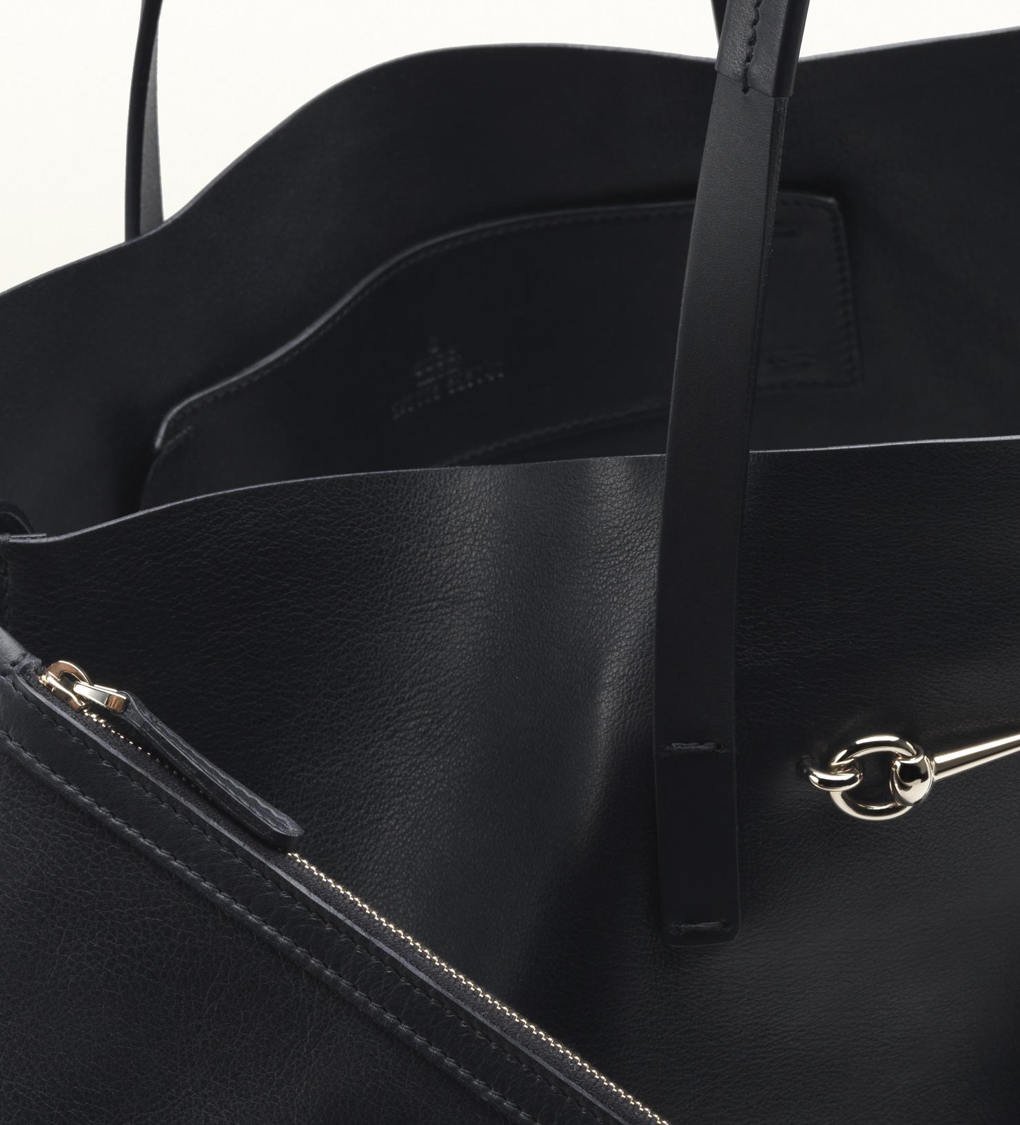 92ca2731253 Lyst - Gucci Park Avenue Leather Horsebit Tote in Black