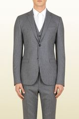 Gucci Grey Flannel Stripe Dylan Jacket - Lyst