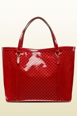 Gucci Glossy Patent Leather Tote - Lyst