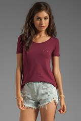 Chaser Exclusive The Destroyed Tee in Burgundy - Lyst