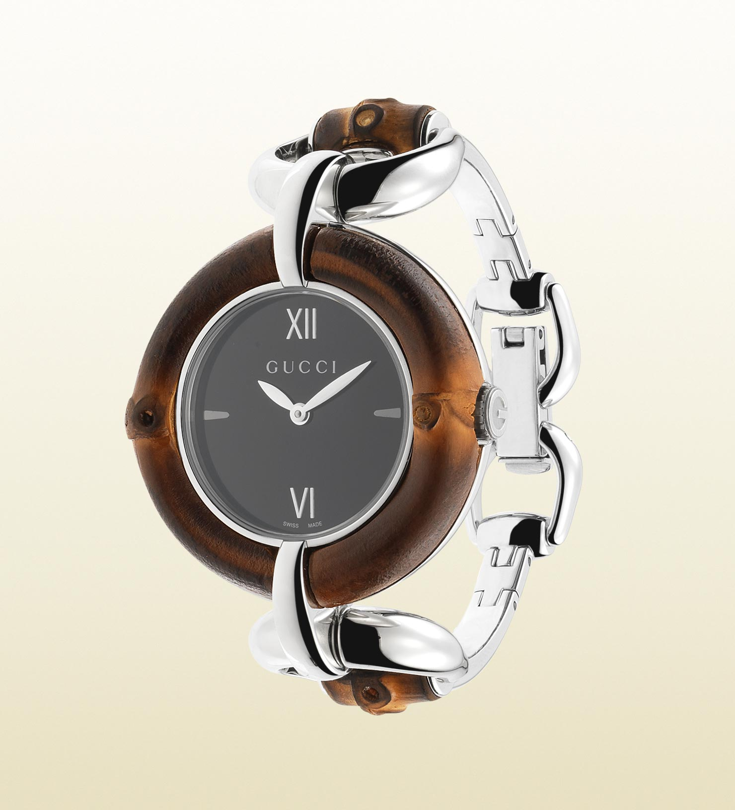 f25365ea9bc Lyst - Gucci Bamboo Stainless Steel Watch in Natural