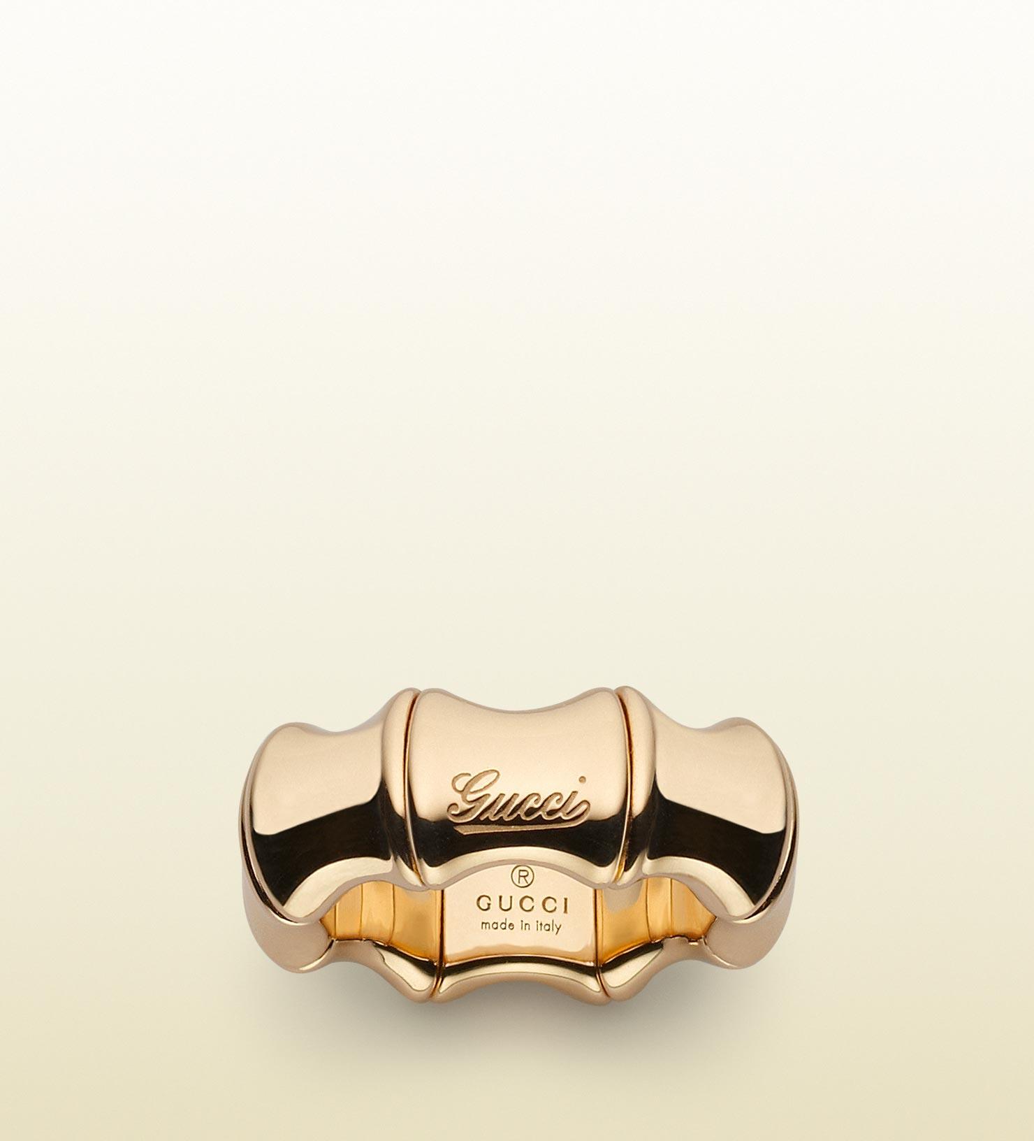 580a185cb Gucci Bamboo Ring in Metallic - Lyst