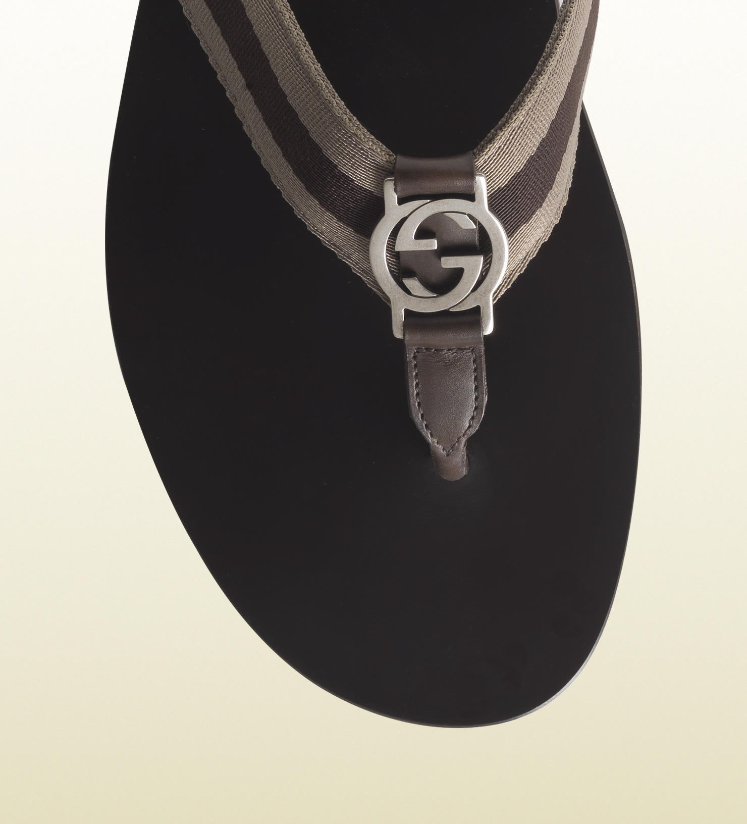 672f6e8fbadce7 Lyst - Gucci Nylon Web Thong Sandal in Natural for Men